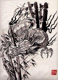 dragon-sumi-e