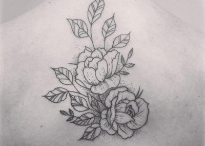 tattoo floral kuronekotattoo